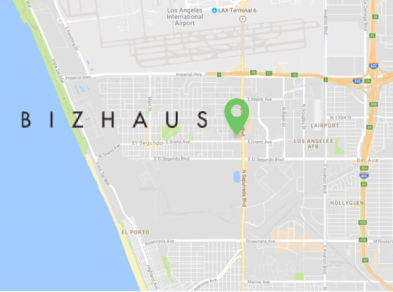 Bizhaus Locations El Segundo Map